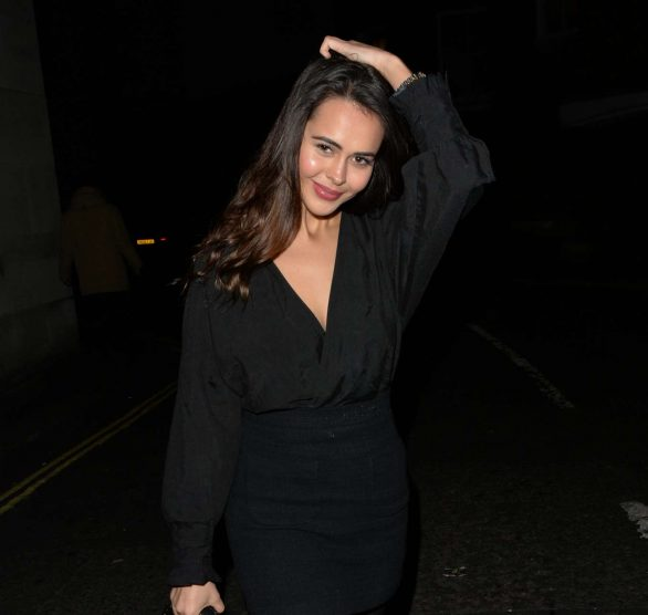 Bethan Wright Leaving Hakkasan Restaurant in Mayfair