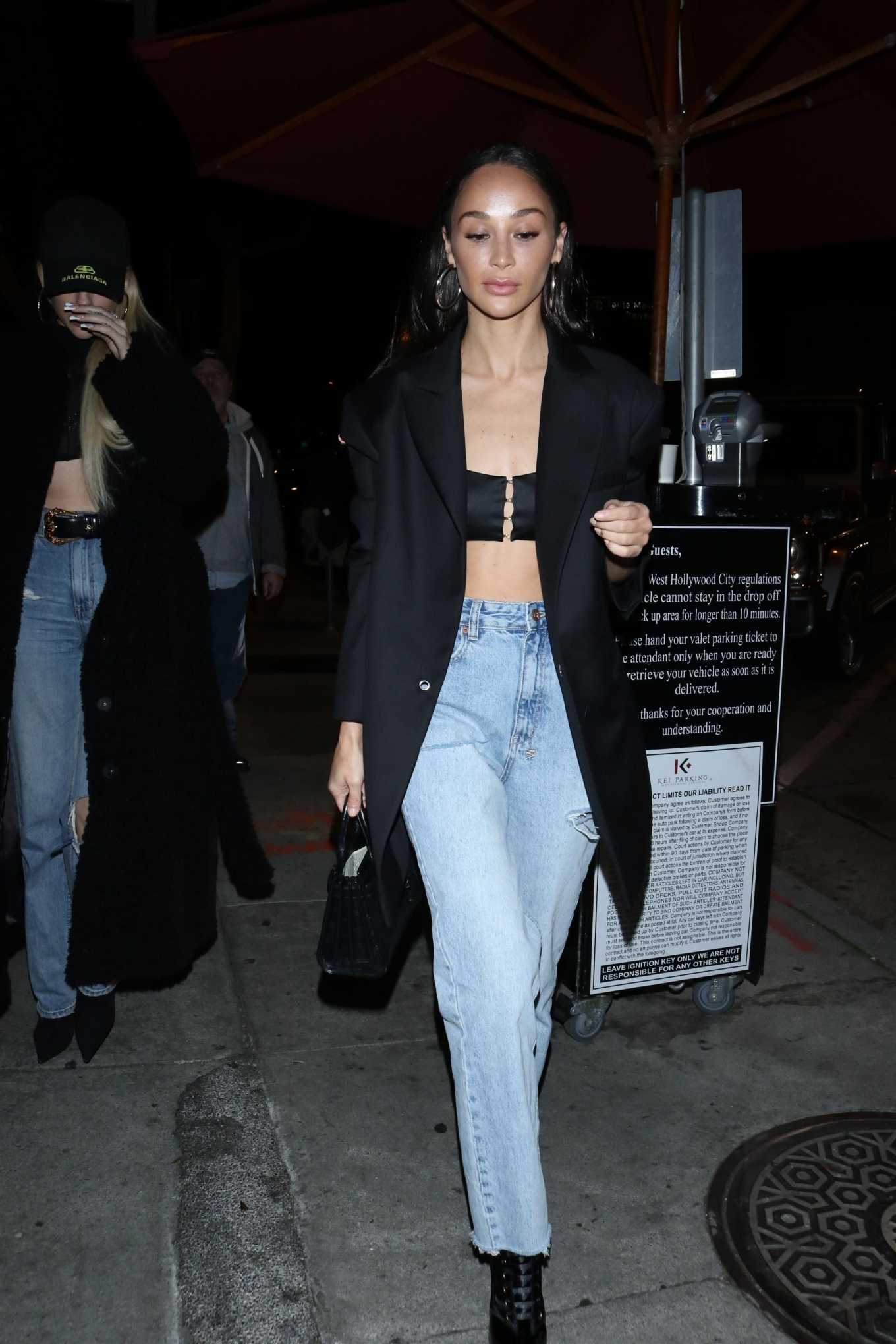 Cara Santana Seen while enjoys dinner with a friend at Craig's in West Hollywood