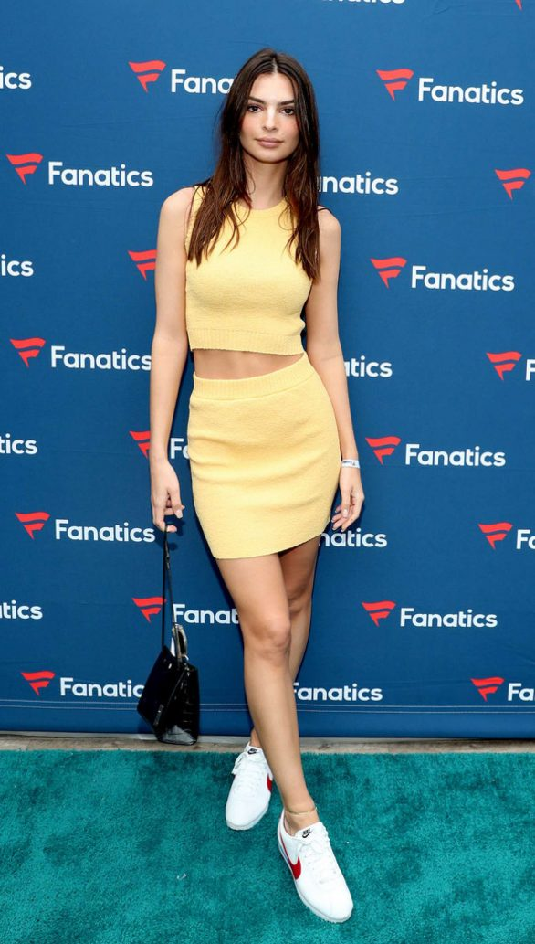 Emily Ratajkowski At Fanatics Super Bowl Party in Miami
