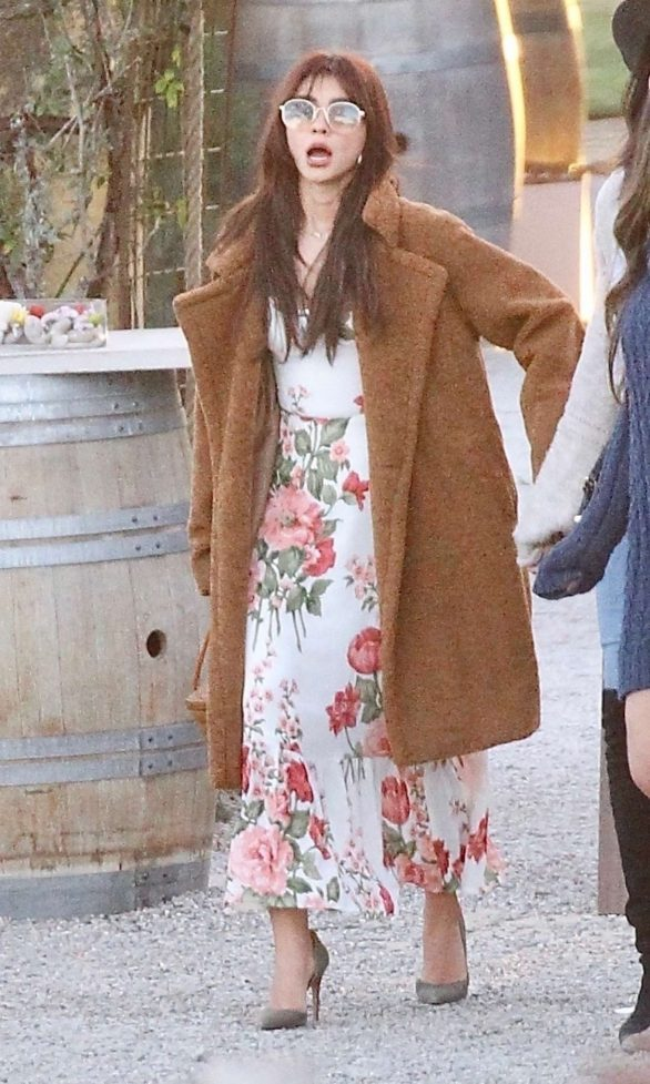 SARAH HYLAND at a Private Party a Winery in Ojai