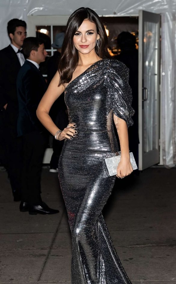 VICTORIA JUSTICE Arrives at Amfar Gala in New York