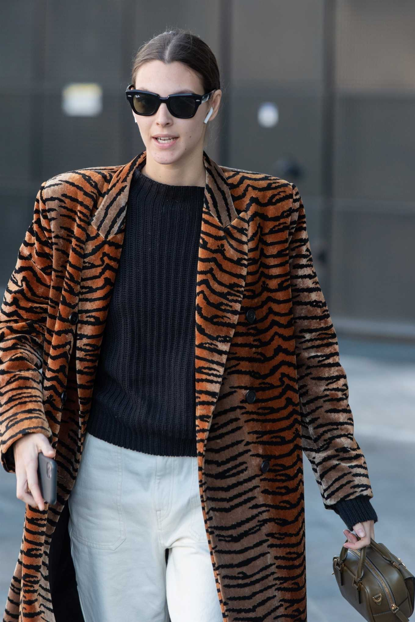 VITTORIA CERETTI Arrives at Versace Show at Milan Fashion Week