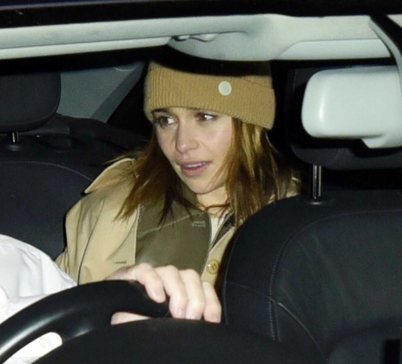 Emilia Clarke leaving the West End play 'The Seagull'
