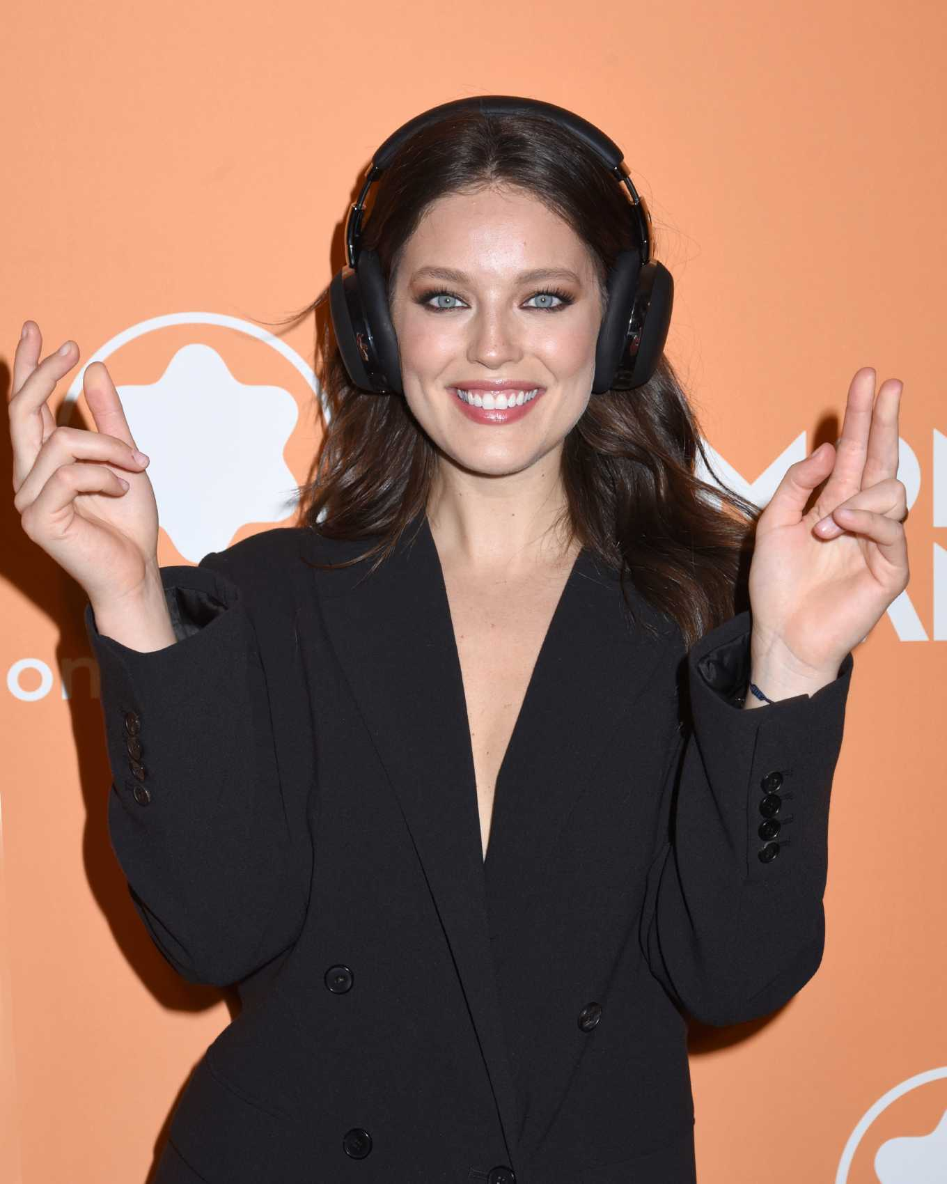 Emily DiDonato At Montblanc MB 01 Smart Headphones & Summit 2+ Launch Party in NYC