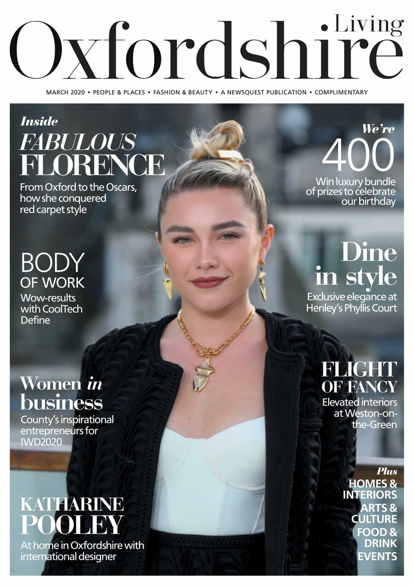 Florence Pugh Photoshoot for Oxfordshire Limited Edition (March 2020)