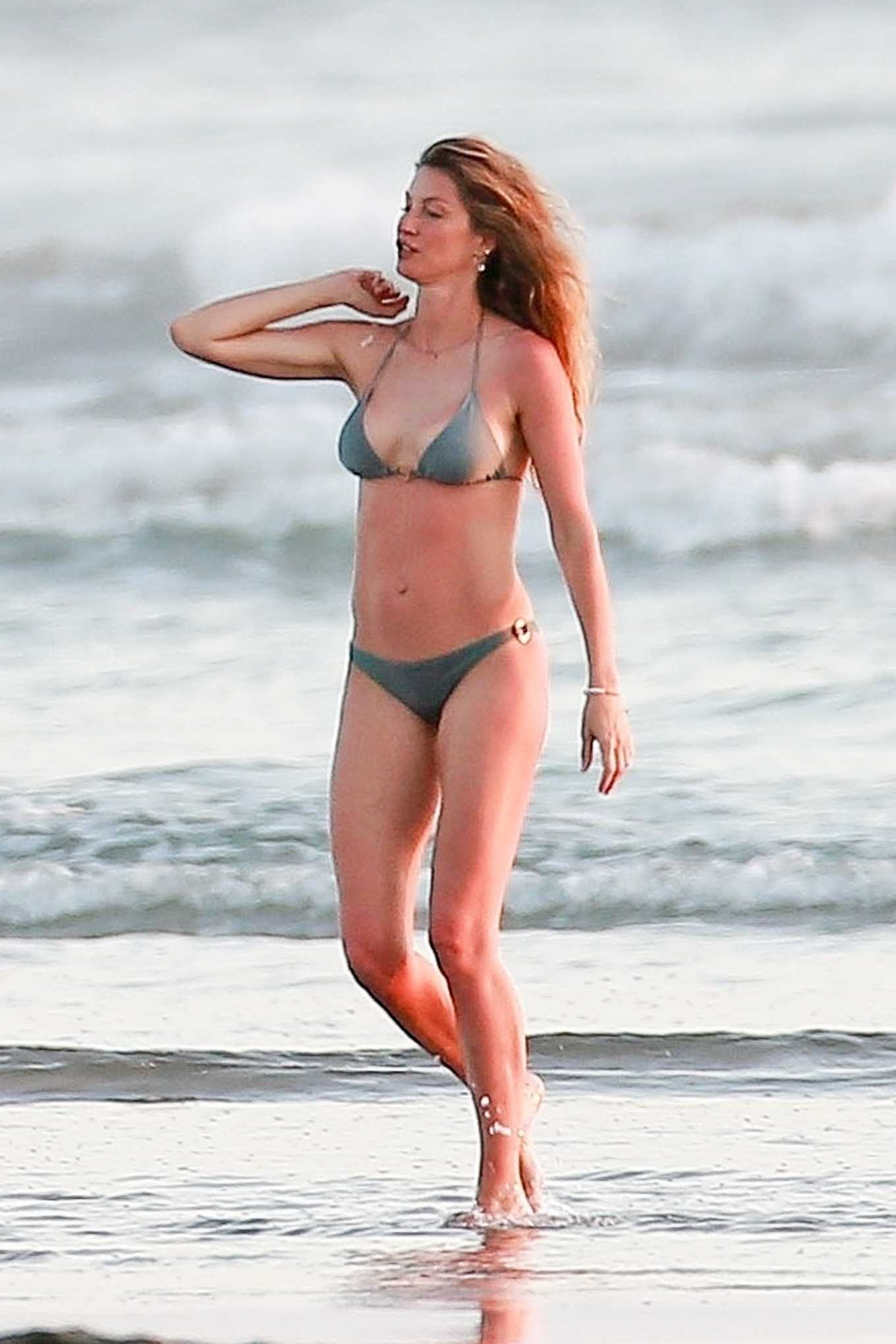 Gisele Bundchen in Bikini on vacationing in Costa Rica