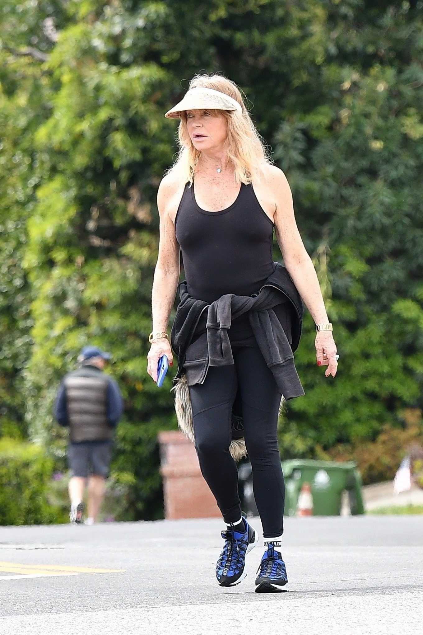Goldie Hawn – Out for a walk in Brentwood
