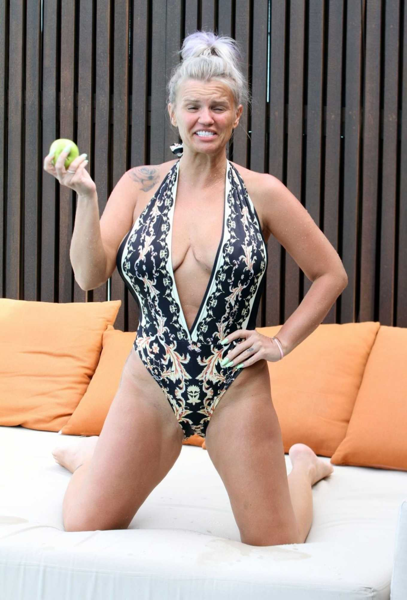 Kerry Katona in Swimsuit on holiday in the Maldives