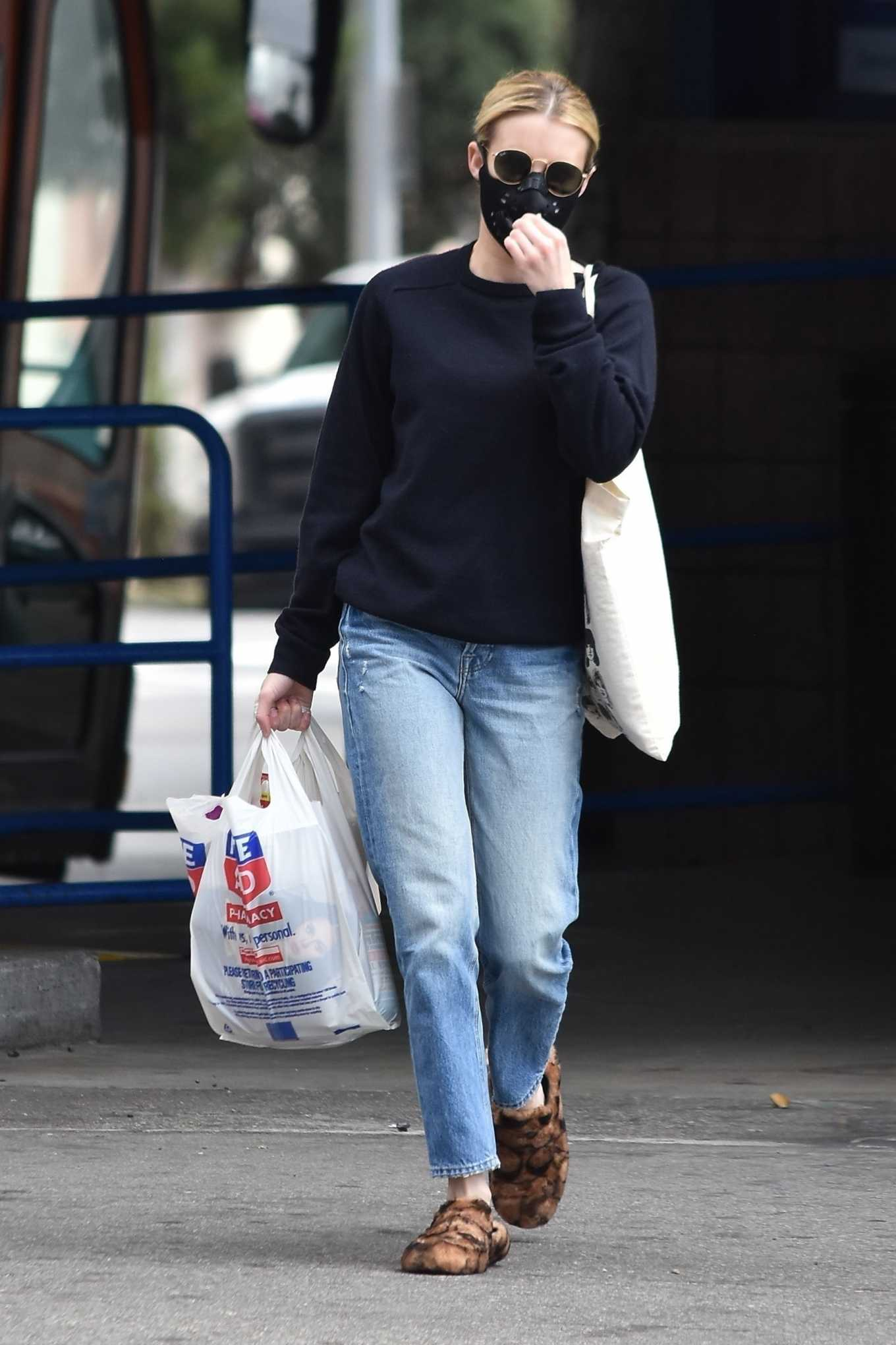 Emma Roberts Shopping at Rite Aid in Los Angeles