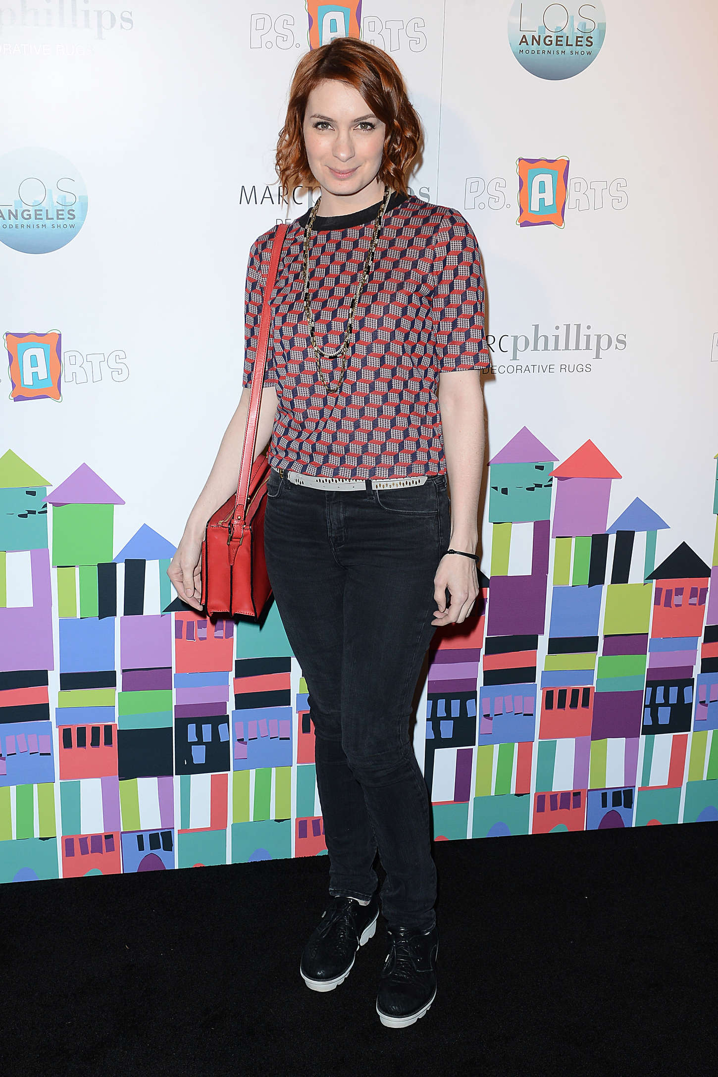 Felicia Day – PS ARTS Presents LA Modernism Opening Night Party in Culver City-01