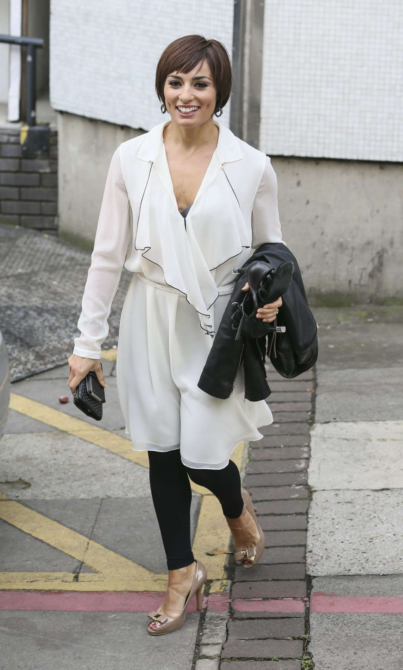 Flavia Cacace – Leaving the London Studios-04