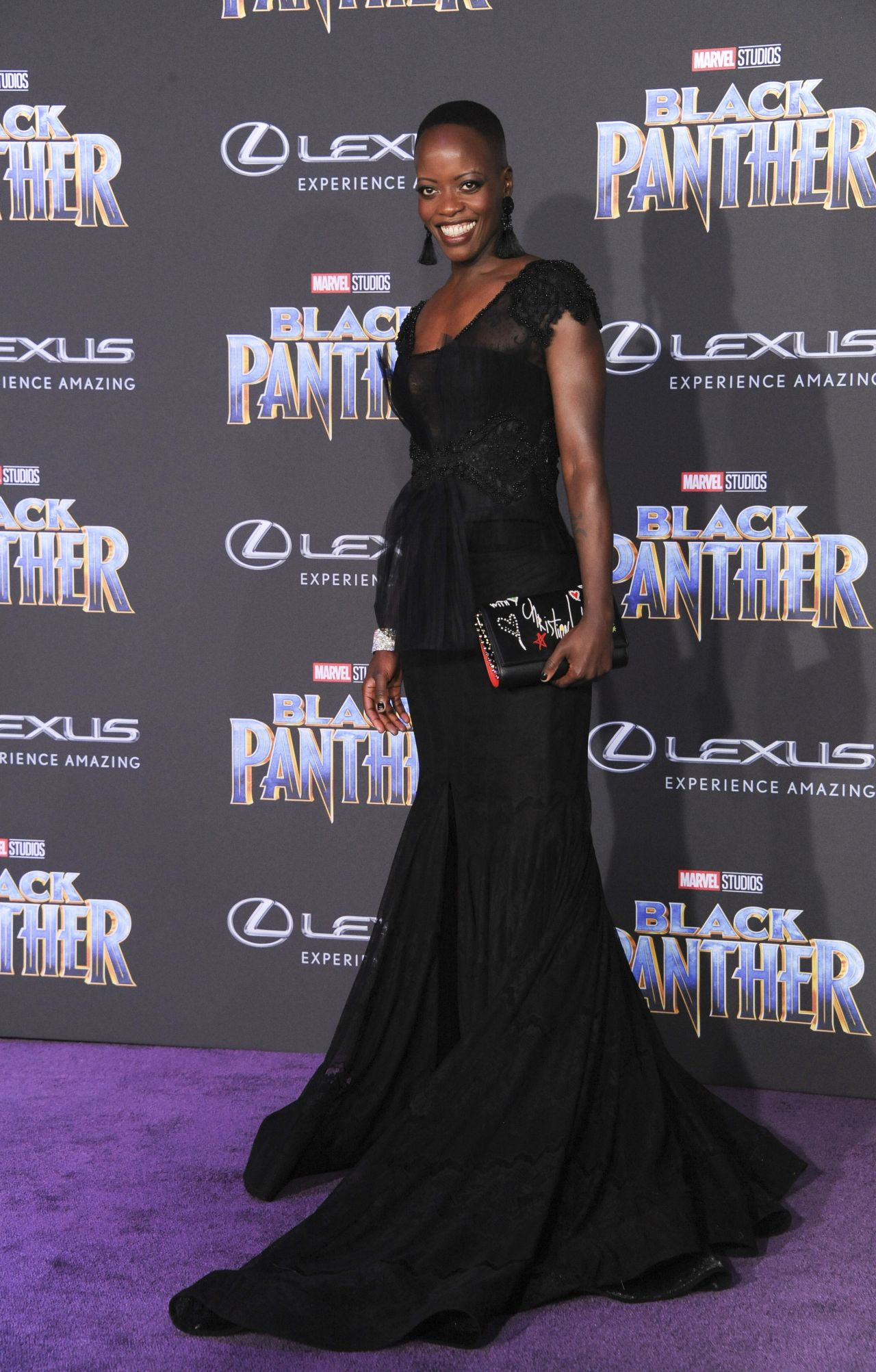 "Florence Kasumba – ""Black Panther"" World Premiere in Hollywood-01"