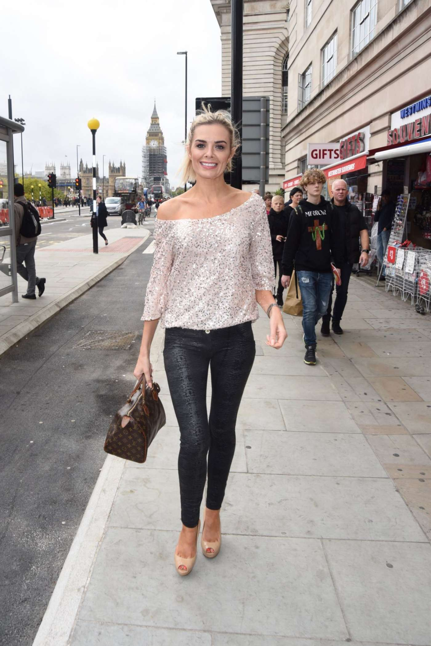 Orlaith McAllister in Tight Pants out in London-02