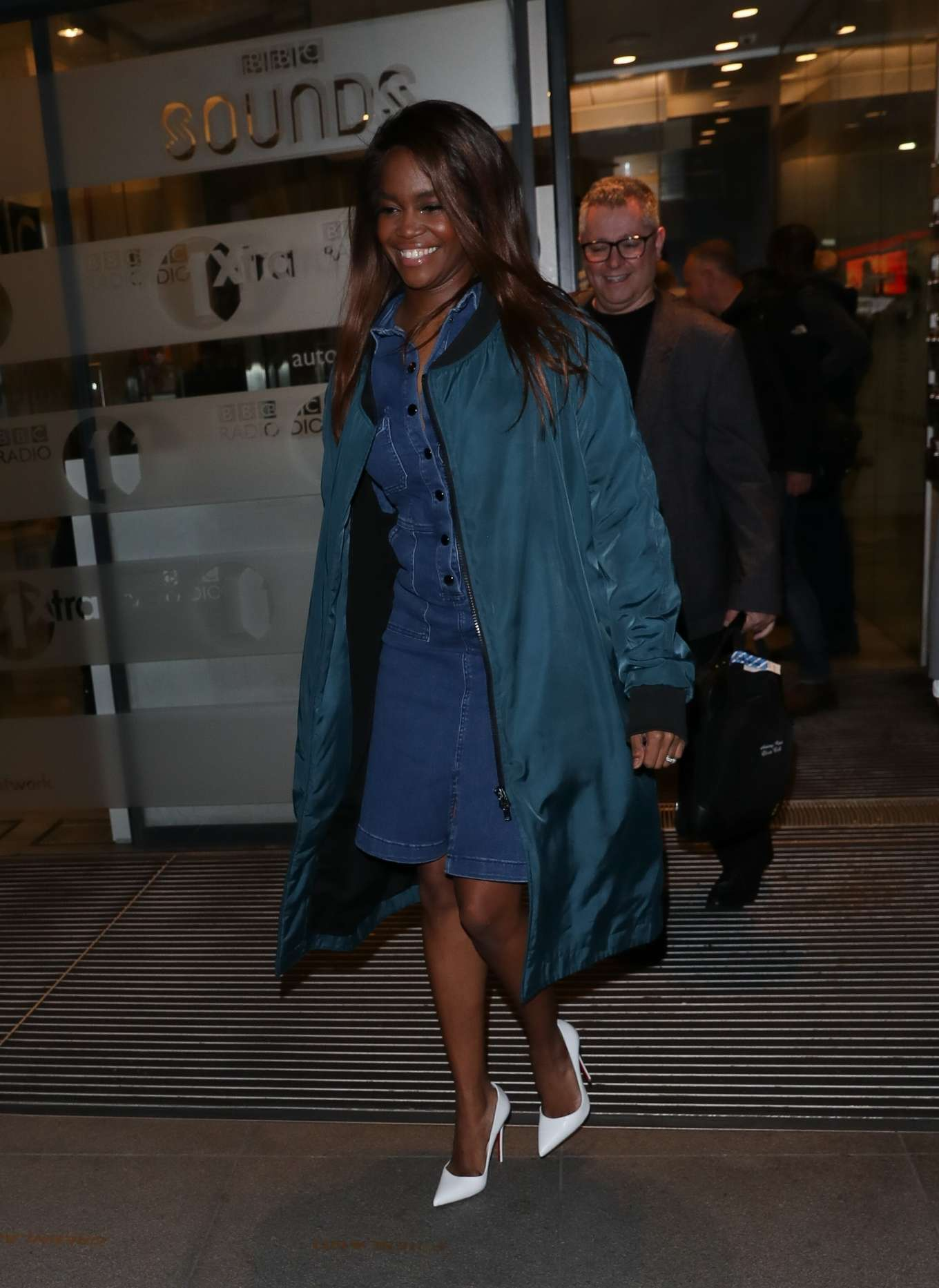 Otlile Mabuse – Leaving The Set Of The One Show in London-01