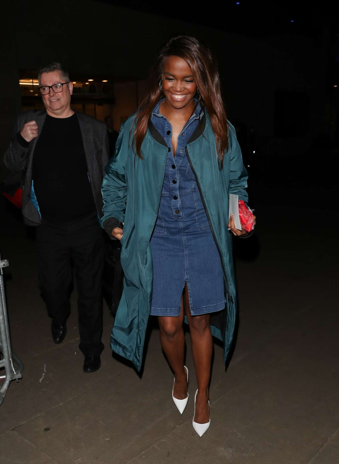 Otlile Mabuse – Leaving The Set Of The One Show in London-05